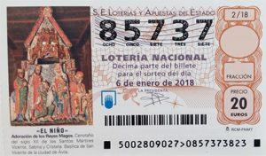 Lotería del Niño 2018